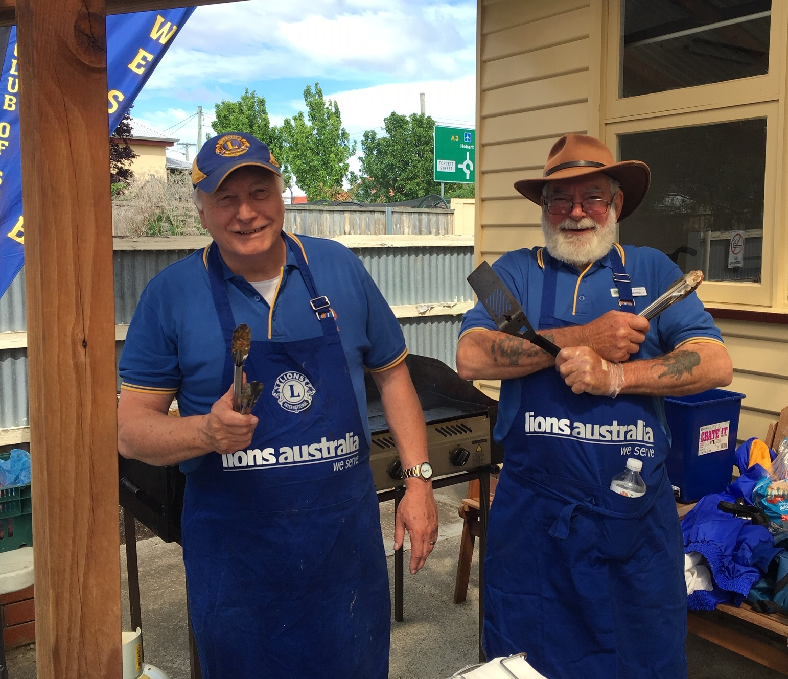 BBQ legends from the Lions Club of Sorell