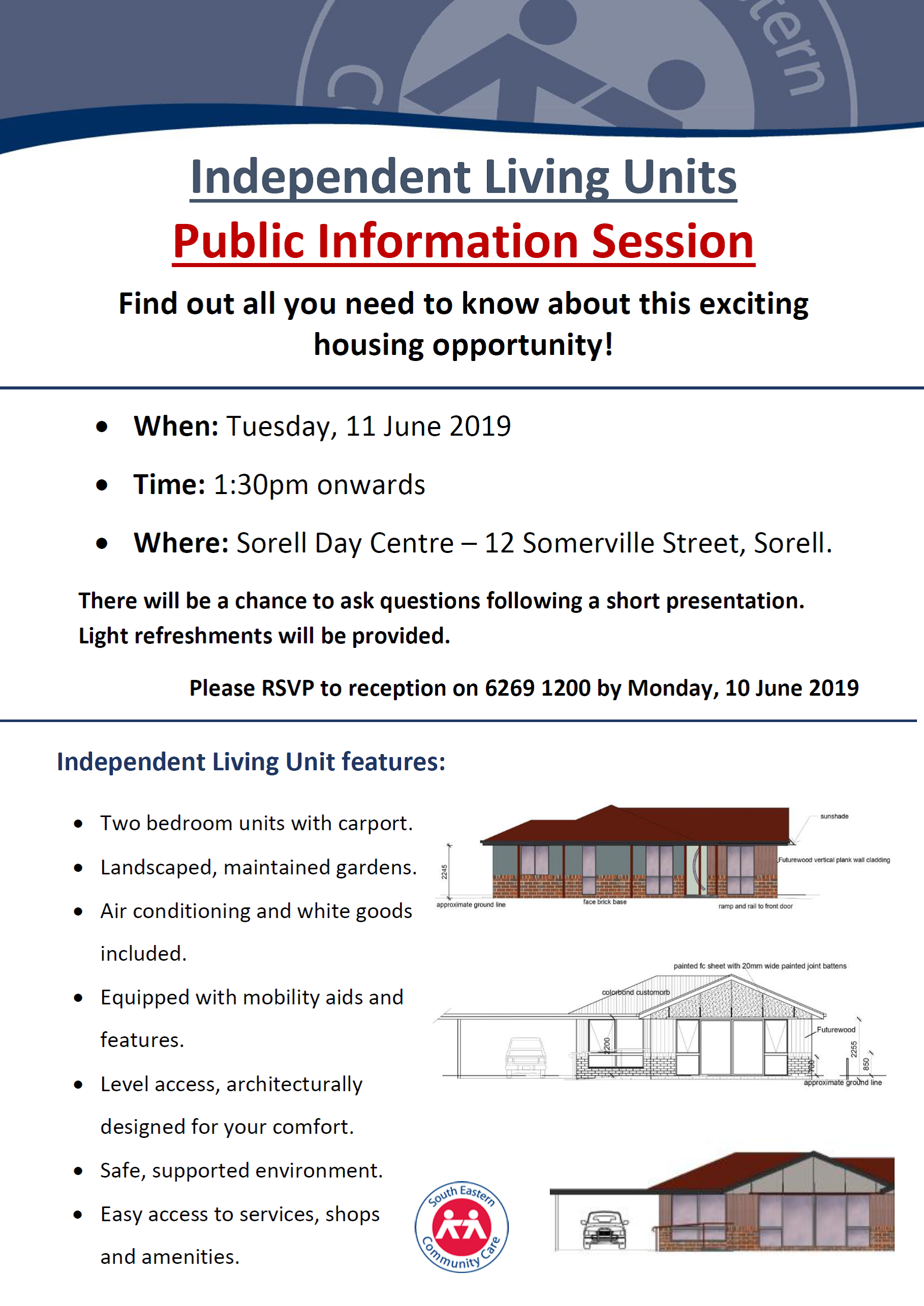 Independent Living Units  Public Information Session