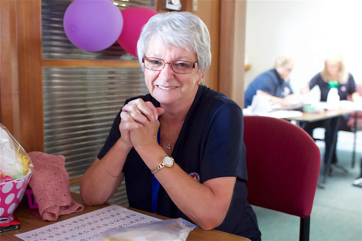 Sorell Day Centre volunteer, Helen Lovell.